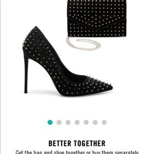 Steve Madden spike heels + matching clutch